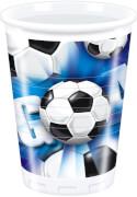 Fußball Servietten, 20 Stück, 33x33cm, blau