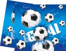 Fußball Einladungskarten & Umschläge, 6 Stück, blau