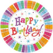 8 Teller Radiant Birthday 23 cm