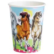 8 Becher Charming Horses 2 266 ml