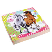 20 Servietten Charming Horses 2 33 x 33 cm