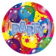 8 Teller Ballon Party 2 23 cm