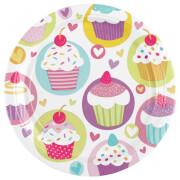 8 Teller Cupcake 23 cm