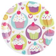 8 Teller Cupcake 18 cm
