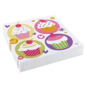 20 Servietten Cupcake 33 x 33 cm