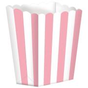 5 Pappschachteln Stripes rosa 9,5 x 13,5 cm