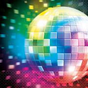 16 Servietten Disco Fever 70's 33 x 33 cm