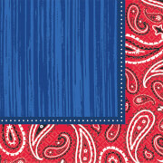 16 Servietten Bandana & Blue Jeans 33 x 33 cm