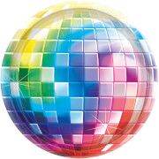 8 Teller Disco Fever 70's 25,4 cm