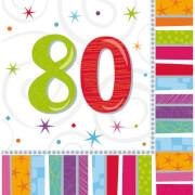 16 Servietten Radiant Birthday 80 33 x 33 cm