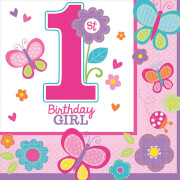 16 Servietten Sweet Birthday Girl 33 x 33 cm