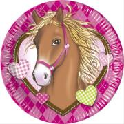Horses Teller 8 Stück, ca. 23 cm