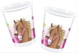 Horses Becher 8 Stück, 200 ml