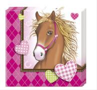 Horses Servietten 20 Stück, ca. 33 x 33 cm