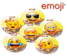 emoji® Teller ca. 23 cm, 6 Stück