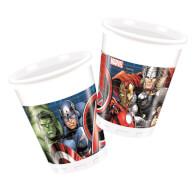 Marvel Avengers Power Plastikbecher 200 ml, 8 Stück