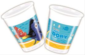 Disney Findet Dorie Plastikbecher 200 ml, 8 Stück