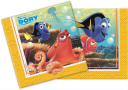 Disney Findet Dorie Servietten 20 Stück, ca. 33 x 33 cm
