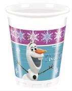 Disney Frozen - Die Eiskönigin Plastikbecher, 200 ml, 8 Stück