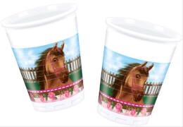 Lovely Horse Becher 200ml 8 Stück