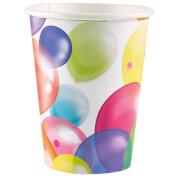 8 Becher Balloons Papier