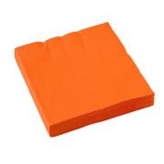 20 Servietten  orange 33 x 33 cm