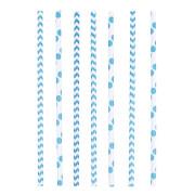 Trinkhalme Papier blau 24 Stück 19,5 cm