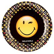 8 Teller Smiley Emoticons, 23 cm