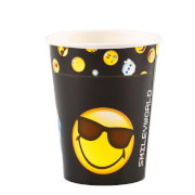 8 Becher Smiley Emoticons 250 ml