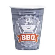 8 Becher BBQ Party 250 ml