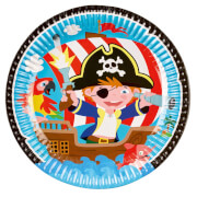 8 Teller Pirat, 23cm