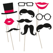 Fotorequisiten-Set Moustache 10-teilig