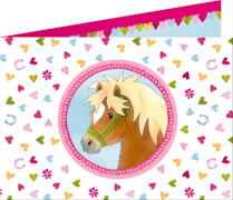 Die Spiegelburg - Einladungskarten Mein kleiner Ponyhof, 8 Stück