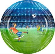 Die Spiegelburg 14117 Partyteller Fußball aus Pappe (8 St.)