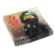 Amscan 20 Servietten ''Lego Ninjago'', ca. 33x33 cm