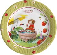 Dahle, Stefanie: Erdbeerinchen Erdbeerfee  Pappteller (8 Expl.) (nur in Partybo