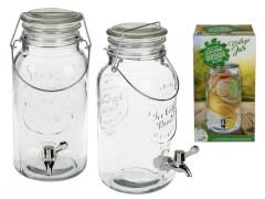 Glas-Getränkespender 4 Liter