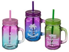 Trinkglas Retro Summer Feeling 2farbig