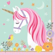 16 Servietten Magical Unicorn 33 cm Papier