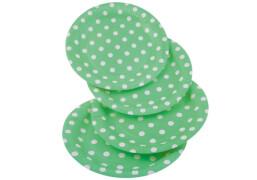 Happy People Papp-Teller Punkte, grün, 8 Stück pro Packung