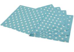 Happy People Servietten Punkte, blau, 33 x 33 cm, 2-lagig, 16 Stück pro Packung