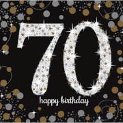 16 Servietten Sparkling Celebration 70 Jahre