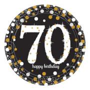 8 Teller Sparkling Celebration 70 Jahre Prismatic 23cm