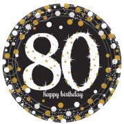 8 Teller Sparkling Celebration 80 Jahre Prismatic 23cm