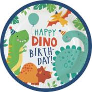 8 Teller Dino-Mite Papier rund 22,8 cm
