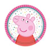 8 Teller Peppa Pig rund 18 cm