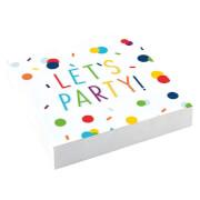 20 Servietten Confetti Birthday 25 x 25 cm