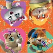16 Servietten 44 Cats 33 cm