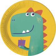 Dinosaur Roar Pappteller 23cm FSC kompostierbar