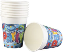 Party Streamers Pappbecher 200 ml